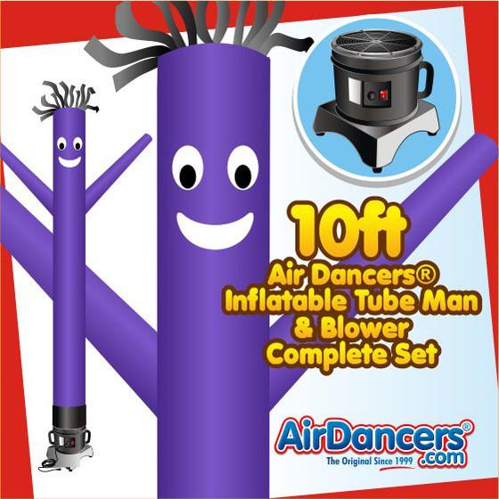 Purple Air Dancers® Inflatable Tube Man & Blower 10ft Set