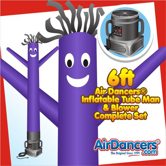 Purple Air Dancers® Inflatable Tube Man & Blower 6ft Set