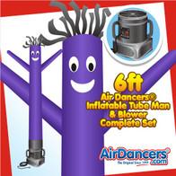 Purple Air Dancers® Inflatable Tube Man & Blower 6ft Set