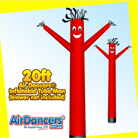 Red Air Dancers® Inflatable Tube Man 20ft by AirDancers.com