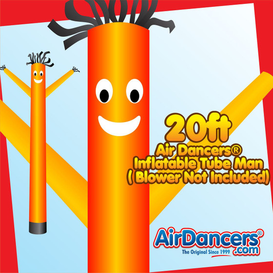 Orange Air Dancers® Inflatable Tube Man 20ft by AirDancers.com
