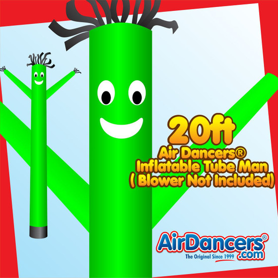 Green Air Dancers® Inflatable Tube Man 20ft by AirDancers.com