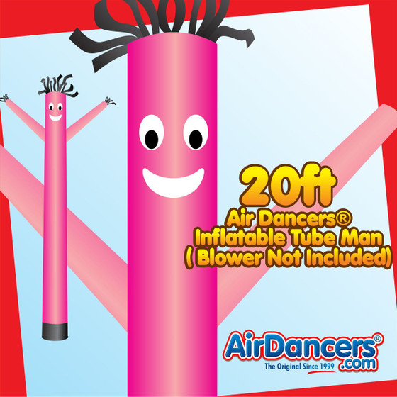 Pink Air Dancers® Inflatable Tube Man 20ft by AirDancers.com