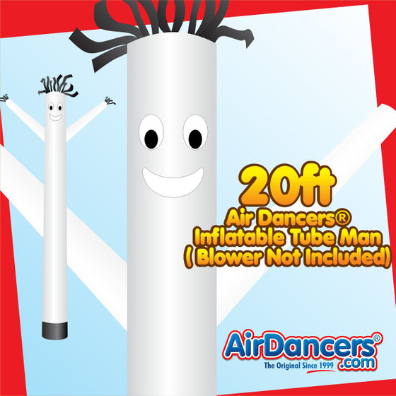 White Air Dancers® Inflatable Tube Man 20ft by AirDancers.com