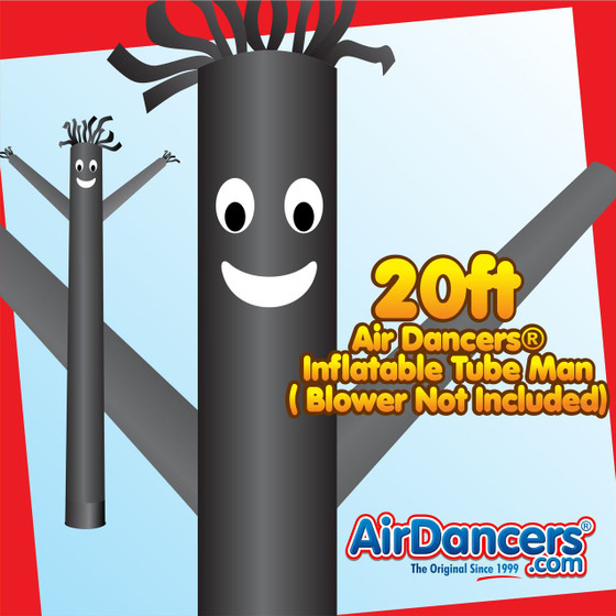 Black Air Dancers® Inflatable Tube Man 20ft by AirDancers.com