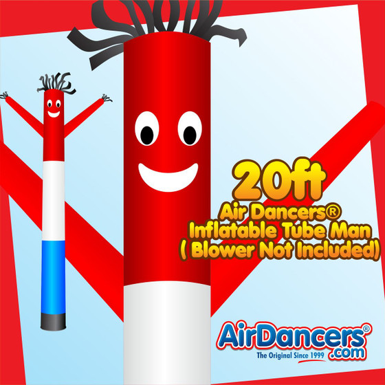 Red White Blue Air Dancers® Inflatable Tube Man 20ft