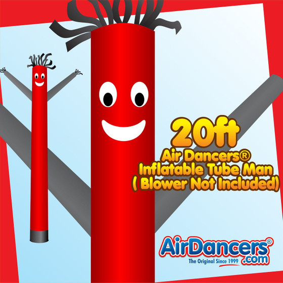 Red Black Air Dancers® Inflatable Tube Man 20ft by AirDancers.com