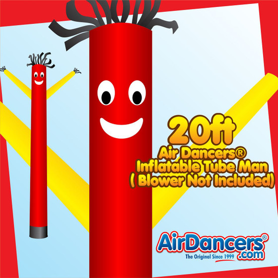 Red Yellow Air Dancers® Inflatable Tube Man 20ft by AirDancers.com