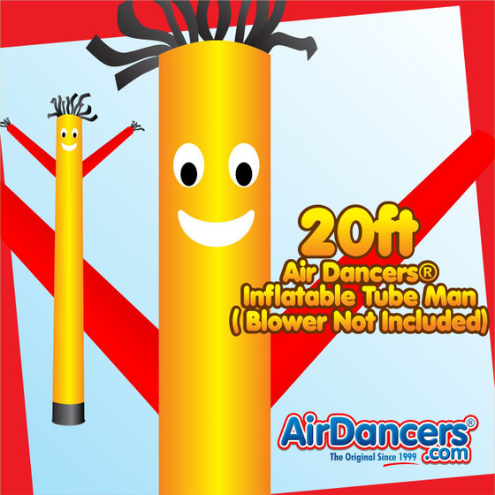 Yellow Red Air Dancers® Inflatable Tube Man 20ft by AirDancers.com