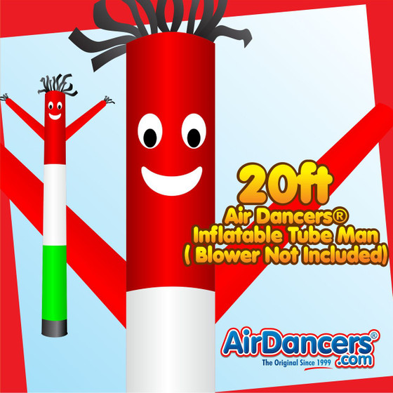 Red White Green Air Dancers® Inflatable Tube Man 20ft