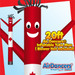 Canadian Flag Air Dancers® Inflatable Tube Man 20ft by AirDancers.com