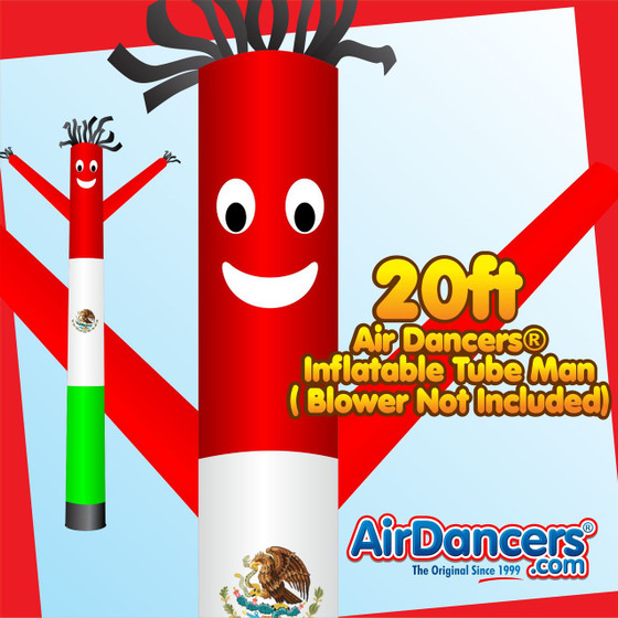 Mexico Flag Air Dancers® Inflatable Tube Man 20ft