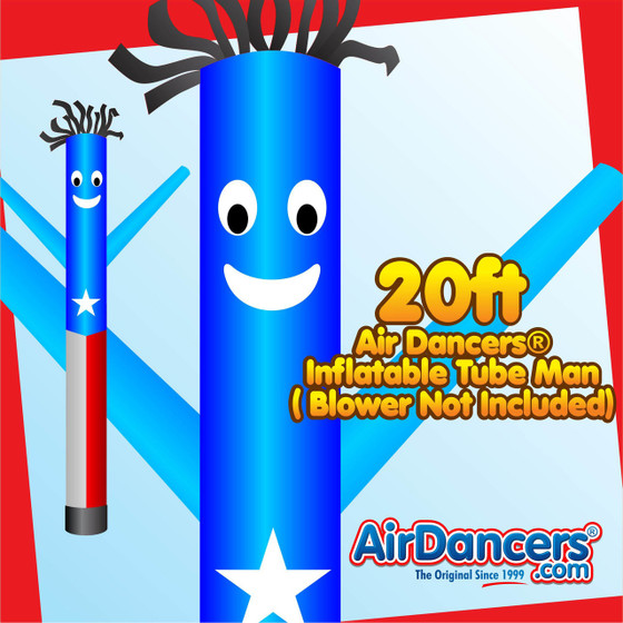 Puerto Rican Flag Air Dancers® Inflatable Tube Man 20ft by AirDancers.com
