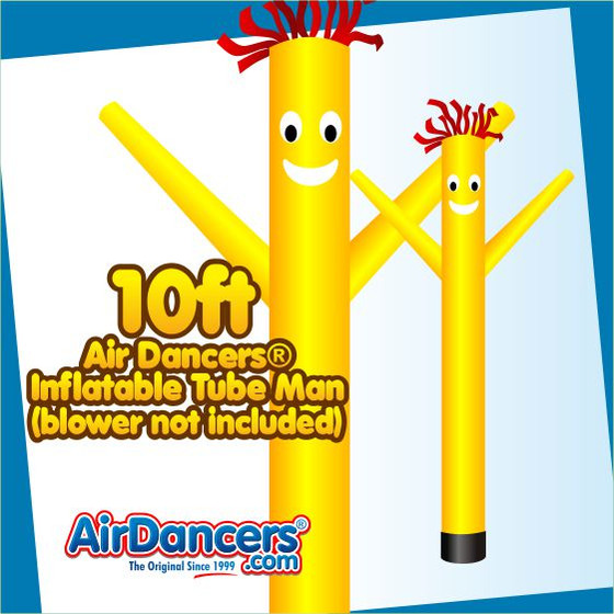 Yellow Air Dancers® Inflatable Tube Man 10ft by AirDancers.com