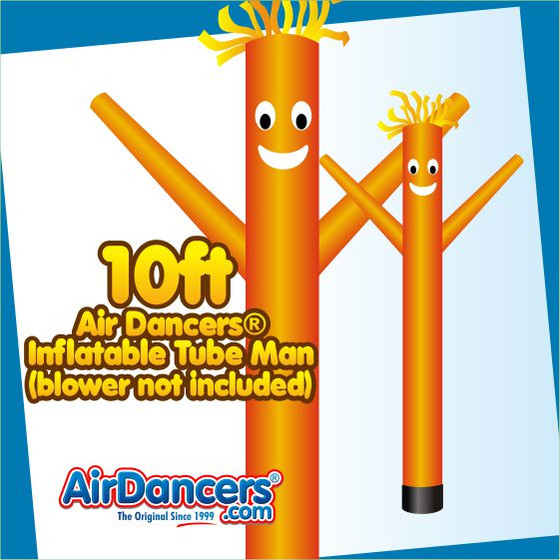 Orange Air Dancers® Inflatable Tube Man 10ft by AirDancers.com