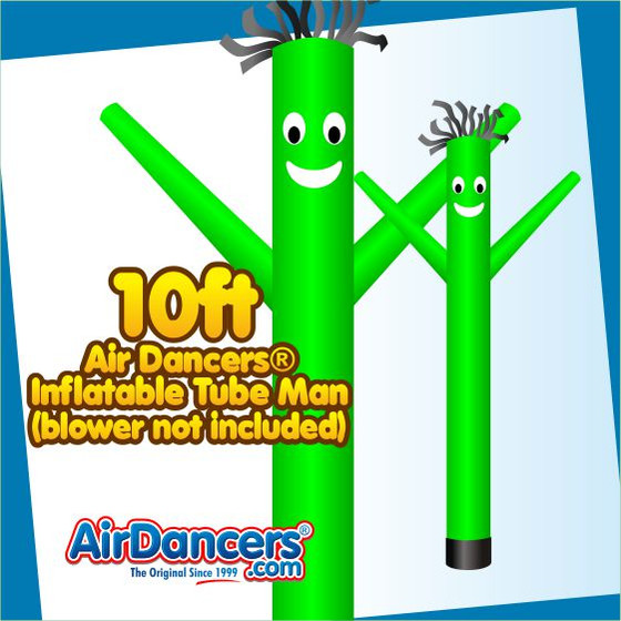 Green Air Dancers® Inflatable Tube Man 10ft by AirDancers.com