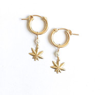 tiny mary jane pearl hoops