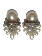 vintage gatsby clip earrings