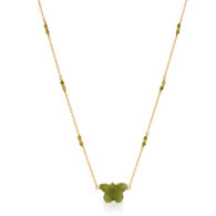 nephrite jade butterfly necklace
