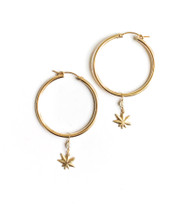 Mary Jane Pearl Hoops