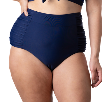 Plus High Waisted Bottom Navy