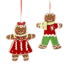 Gingerbread Ornament - Set of 2 Assorted