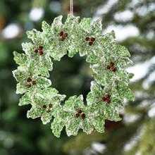 Holly Wreath Ornament
