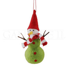 Tall Felt Snowman Ornament