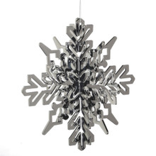 Oversized Silver Snowflake