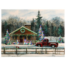 WINTER SCENE LIGHTED PRINT