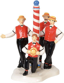 Flattops Barbershop Quartet Department 56 Original Snow Village 6000650