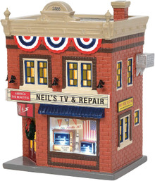 Neil's TV & Repair Department 56 Original Snow Village 6003136