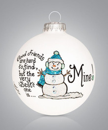 Good Friends Hand Painted Glass Ornament