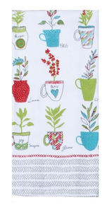 Kay Dee Designs House Rules Herbal Cups Terry Towel