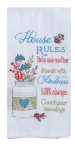Kay Dee Designs House Rules Kitchen Towel