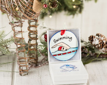 Nola Watkins Swimming Ornament
