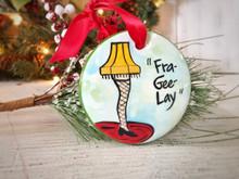 "Nola Watkins ""A Christmas Story"" Leg Lamp Ornament"