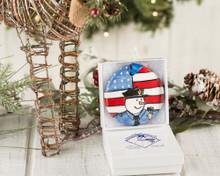 Nola Watkins Police Snowman Ornament