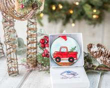 Nola Watkins Red Truck Ornament