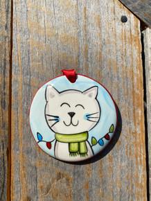 Nola Watkins Happy Cat Ornament