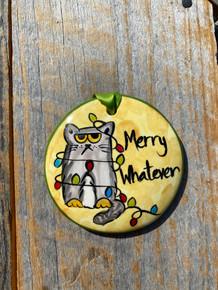 Nola Watkins Merry Whatever Cat Ornament