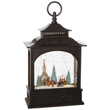 TOWN SCENE MUSICAL LIGHTED WATER LANTERN 3800772