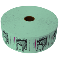 Queen of Hearts Jumbo Ticket Roll - Green