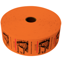 Queen of Hearts Jumbo Ticket Roll - Orange