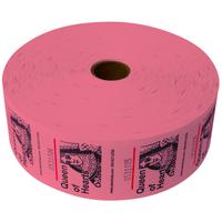 Queen of Hearts Jumbo Ticket Roll - Pink