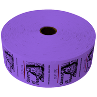 Queen of Hearts Jumbo Ticket Roll - Purple