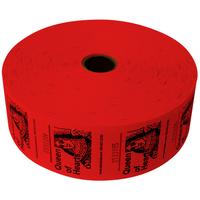 Queen of Hearts Jumbo Ticket Roll - Red