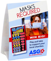 Masks Required Table Tents (Pack of 10)