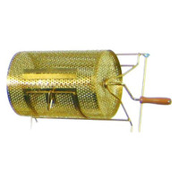 Small Brass-Plated Raffle Drum