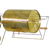 Medium Brass-Plated Raffle Drum